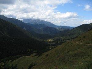 View back from Kopské sedlo